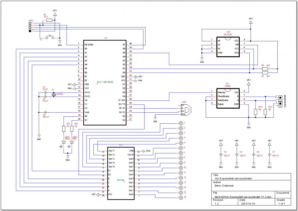 Circuit - ServoCentralCard V1.2