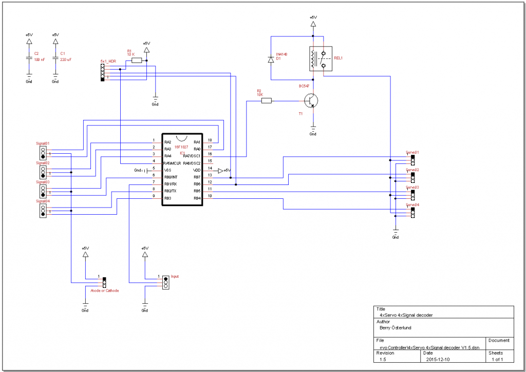Circuit - ServoSignal DaughterCard V1.5